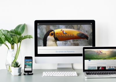webdesign on different devices on white desk