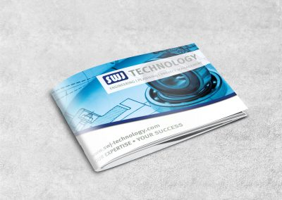 booklet for engineering consulting company on white background