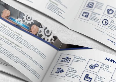 booklet pages lying open face on white background