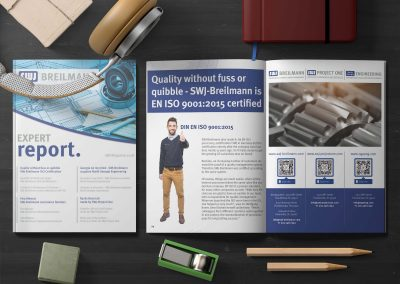 magazine lying on wooden boards print design business report