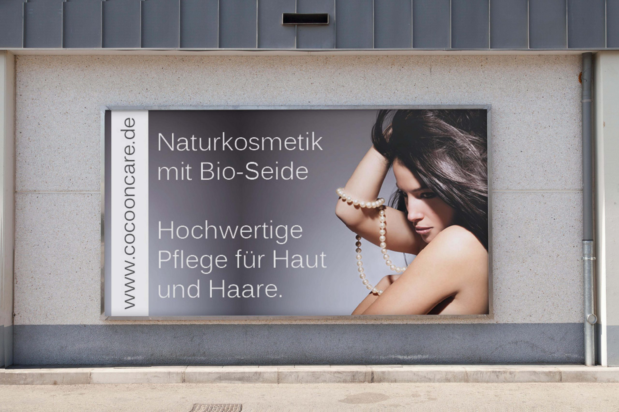 outdoor poster on wall