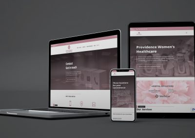 responsive website design on different devices and screens