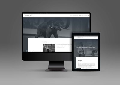 website design on laptop and tablet screen